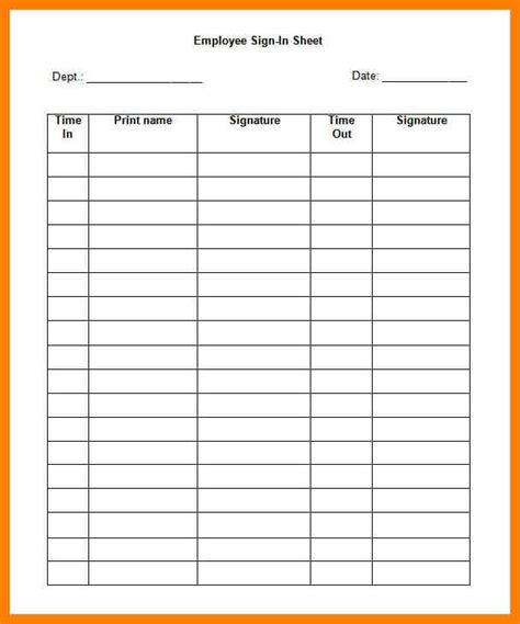 9 sign in sheet template word lease template