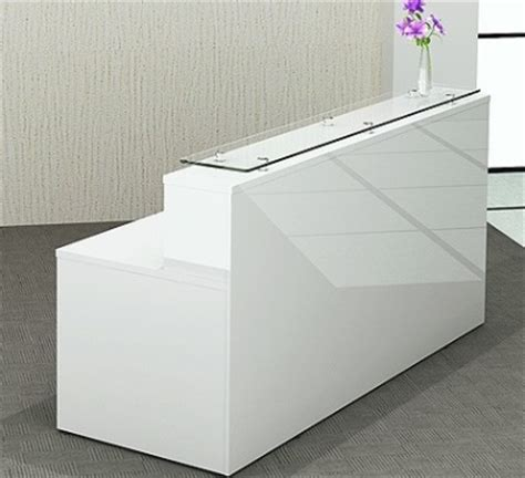 White Reception Desk White Gloss Reception Desk Polar Desk Only Reality