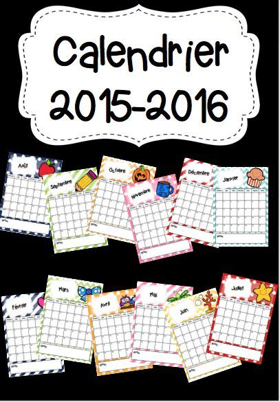 Calendriergratuit F Calendrier 2015 2016 Calendriers