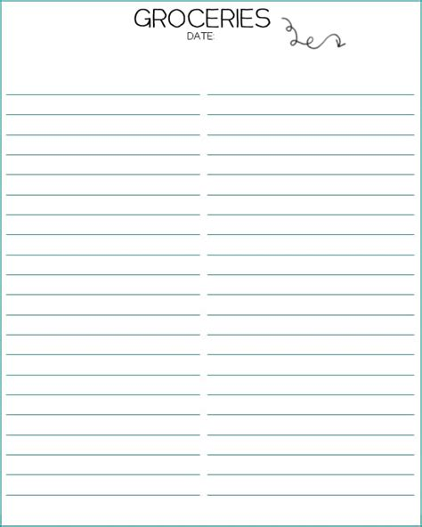 template grocery shopping list template for word grocery shopping