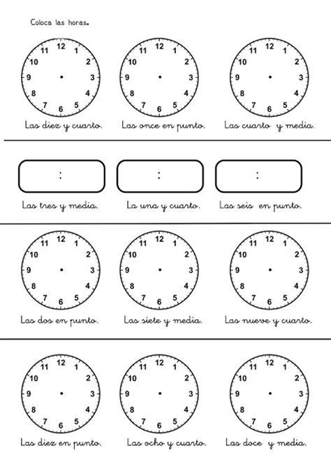 imagenes de matematicas en blanco fichas con ejercicios para aprender las horas del reloj