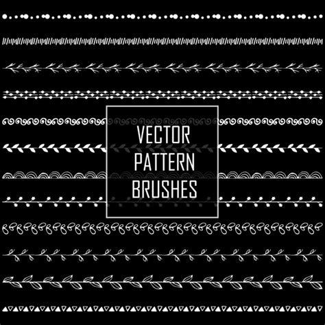vector pattern brushes pattern brushes collection vector premium download