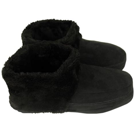 mens fuzzy boots mens dunlop ankle boot slipper bootee faux suede