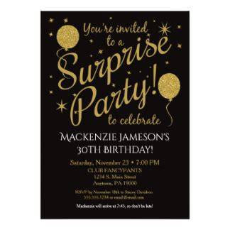 surprise 21st birthday party invitations amp announcements