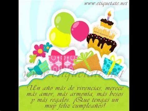 imagenes de cumpleaños youtube mensajes de feliz cumplea 241 os en imagenes y video youtube