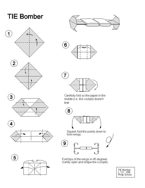 Tie Fighter Origami - extremegami how to make a origami tie bomber