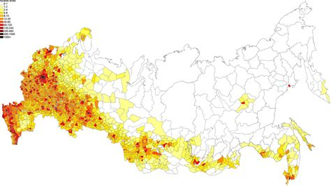russia density map 69 population density administrative boundaries map of