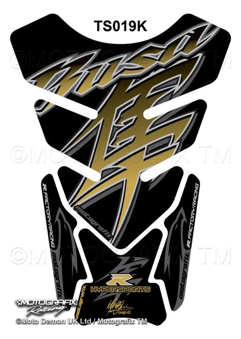 suzuki gsx1300r hayabusa black gold 3d gel tank pad