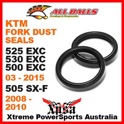 Ktm Fork Seal Replacement All Balls 57 105 Fork Dust Seals Ktm 525exc 530exc 500exc