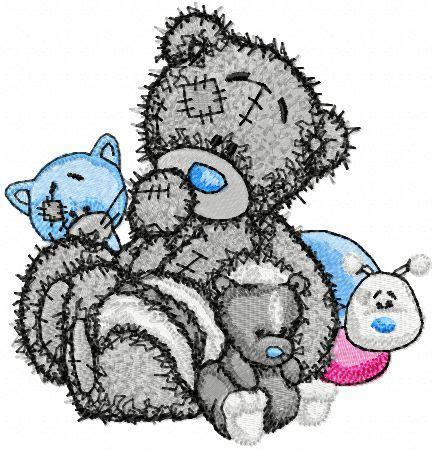 tatty teddy tattoo designs teddy and friends embroidery design machine