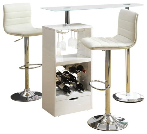 Glass Top Bar Table Set by Glass Top 3 Pc Stemware Storage Wine Rack Bar Table Stools