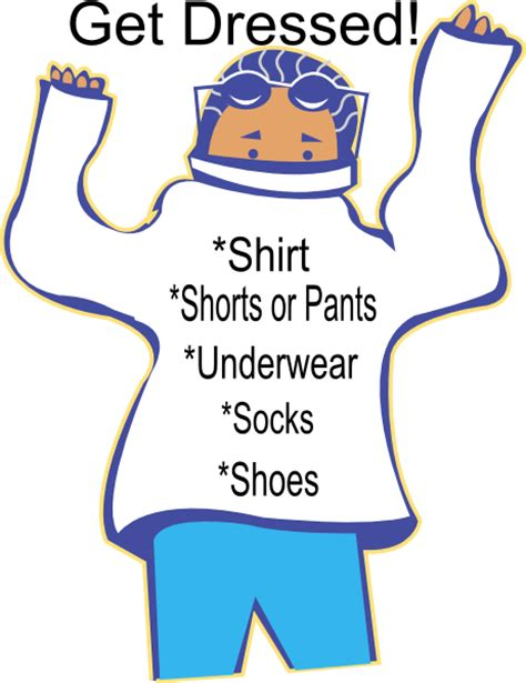 get clipart chore get dressed clip at clker vector clip