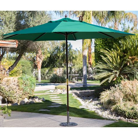 market patio umbrellas coral coast key largo 11 ft wood market umbrella patio