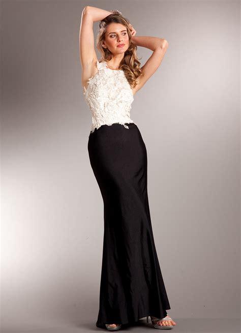 Elegant Classic Two tone Evening Dress   Sung Boutique L.A.