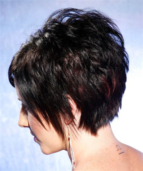 side views of short layered haircuts short straight alternative hairstyle black bright
