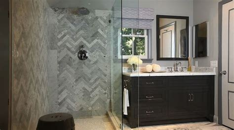 jeff lewis bathroom design jeff lewis design bathrooms seamless glass shower marble herringbone tiles shower