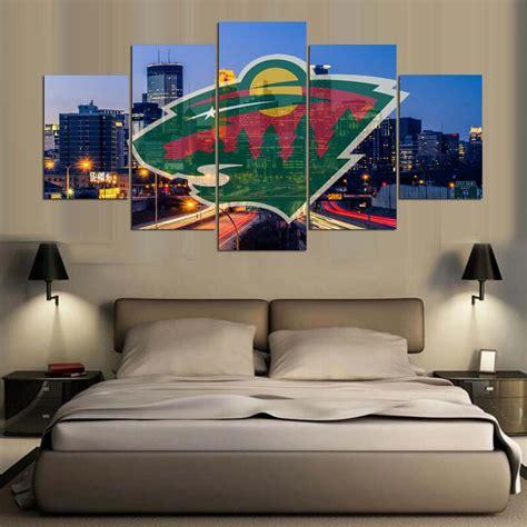 mn wild fan cam sale 5 panel minnesota wild logo fans printed painting