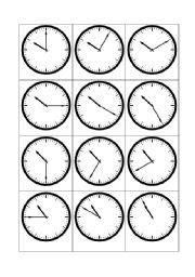 english worksheet telling the time 10 o 180 clock