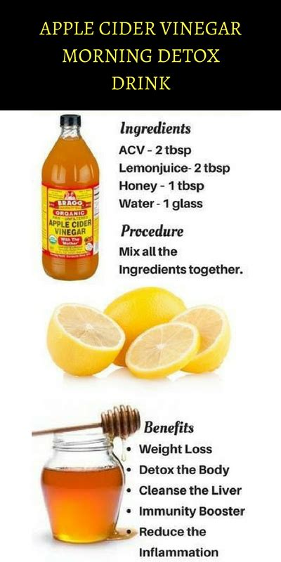 How To Detox With Apple Cider Vinegar by Apple Cider Vinegar Morning Detox Drink Keep You Fit