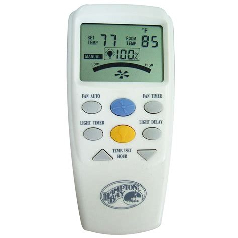 thermostat controlled ceiling fan hton bay lcd display thermostatic remote control 60001