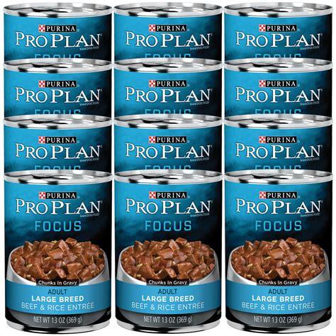 purina pro plan focus large breed puppy purina pro plan focus beef rice entre canned large breed food 12x13oz