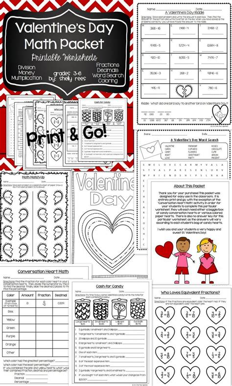 printable maths games for upper primary 3689 best images about valentine s day math ideas on