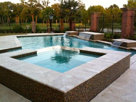 pools with spas pools and spas rectangle pool with waterfalls and spa