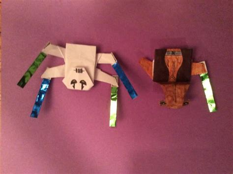 Origami Wars General Grievous - origami general grievous and the ithorian jedi master