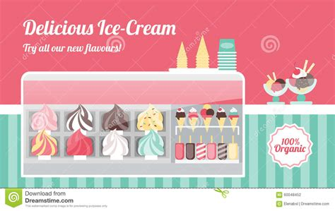 design banner ice cream ice cream shop banner stock vector image 60048452