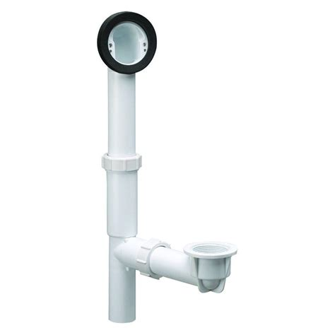 bathtub drain kit design house pvc rough in bath drain kit with overflow 522458 the home depot