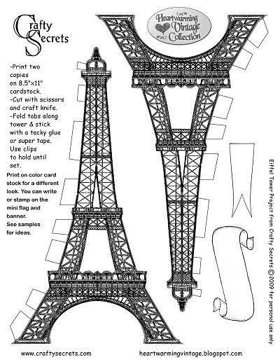 eiffel tower model template eiffel tower craft template pesquisa