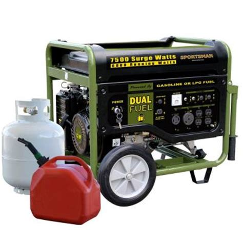 sportsman 7 500 watt dual fuel generator with electric
