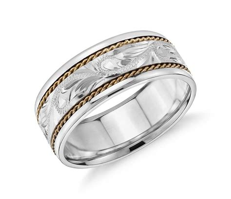 white and yellow gold wedding rings wedding promise