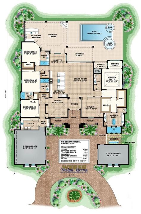 mediterranean house plan artesia house plan weber serrano floor plan by weber design group mediterranean