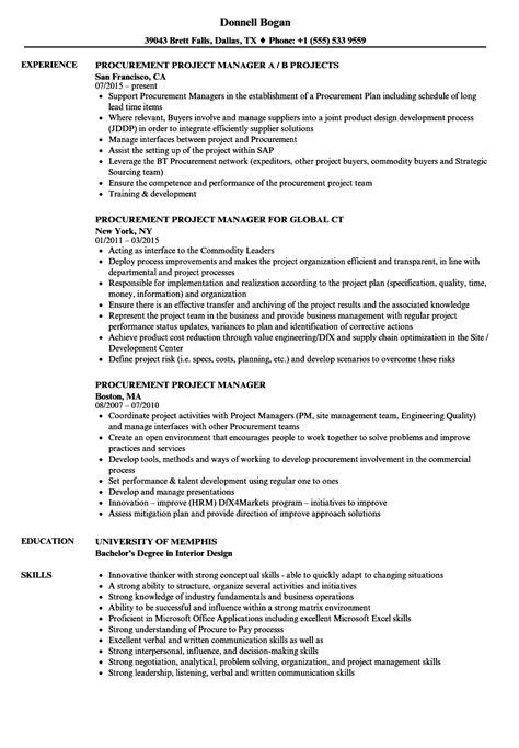 procurement manager resume format elegant purchase manager sample
