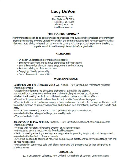 Resume For An Internship by Internship Resume Template Best Design Tips