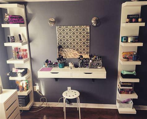 Vanity Shelves Bedroom by Debbiedebo1 Makeup Organization Ikea
