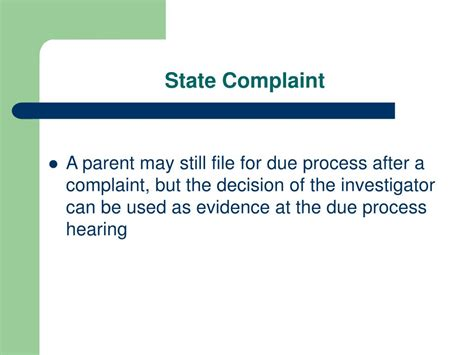 Due Process Of Beyond The State ppt due process complaints an overview of dispute resolution in illinois powerpoint