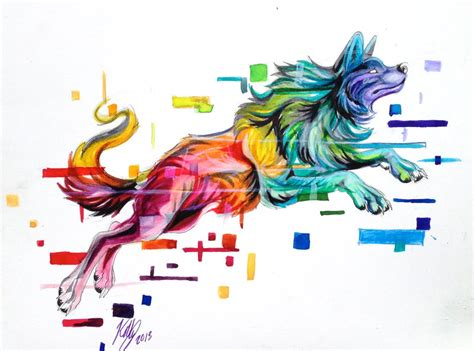 rainbow glitch by lucky978 on deviantart