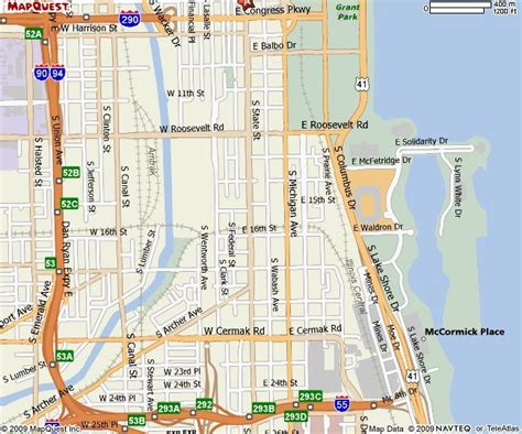 chicago loop map chicago cta map with streets