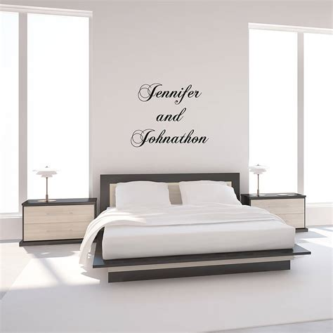 Bedroom Wall Quote Stickers Uk Personalised Quote Typographical Wall Sticker By Oakdene