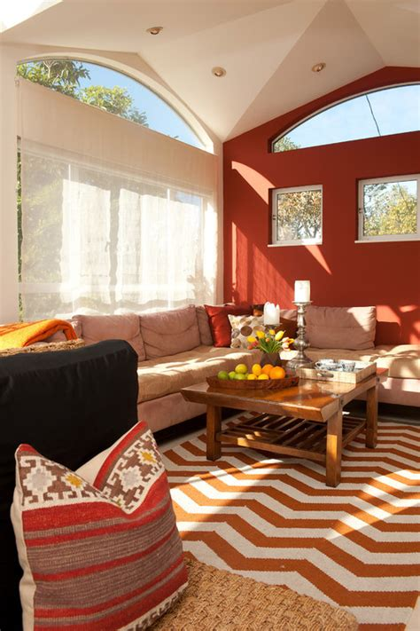 red living rooms interior design ideas