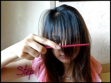 how to cut bangs at home bukit