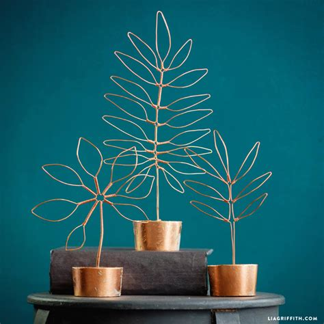 wire diy projects copper wire leaf decor lia griffith