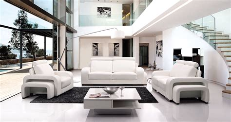 living room furniture white home design plan
