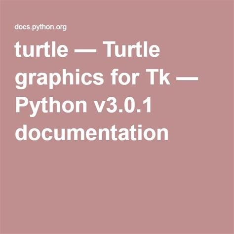 tutorial python graphics turtle turtle graphics for tk python v3 0 1