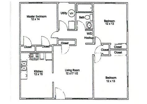 Floor Plans For Apartments 3 Bedroom by 3 Bedroom Apartment Floor Plans Thraam Com