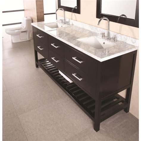 72 inch double sink vanity design element dec077b 72 inch double sink vanity set