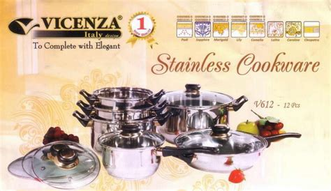 Daftar Vicenza Collection jual vicenza stainless cookware set v 612 dianshop