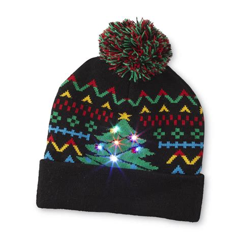 holiday editions women s light up beanie hat christmas tree